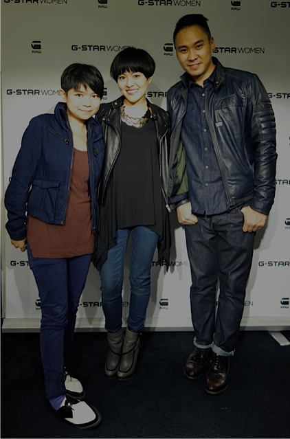 From Left: G-Star Raw Marketing team-Stephanie & John. Nice to work with you guys :)