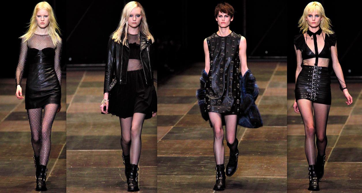 皮革是Hedi最喜歡的material,我亦最喜歡他的皮革服裝,其中在黑色皮裙上釘滿embroidery的款式確實令我瘋狂。