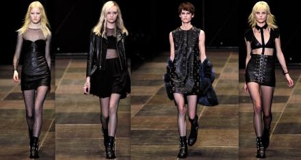皮革是Hedi最喜歡的material,我亦最喜歡他的皮革服裝,其中在黑色皮裙上釘滿embroidery的款式令我印象難忘。