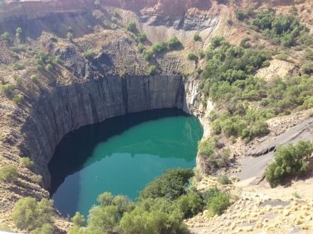 站在高處望下Big Hole,感覺非常震撼。