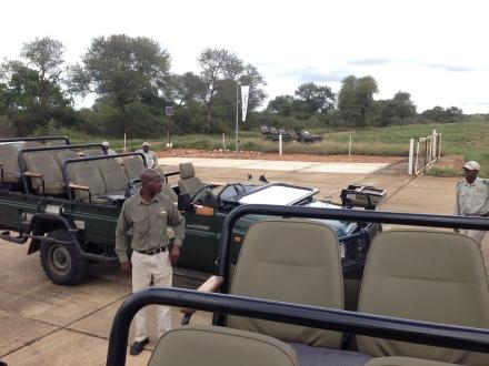 初時知道自己只坐在這輛無遮無掩的吉普車暢遊草原,搜尋獅子老虎的足跡,特別覺得緊張刺激。