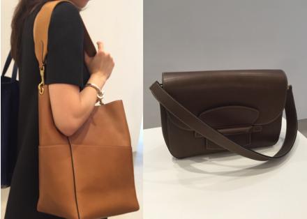 帶有復古味道的SANGLE(左)和TAB是新季IT Bags,款色長青易襯,相信會深受上班族的愛戴,必會大賣。
